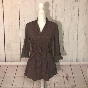 Lole Button Down Printed Tunic Dress Size 12